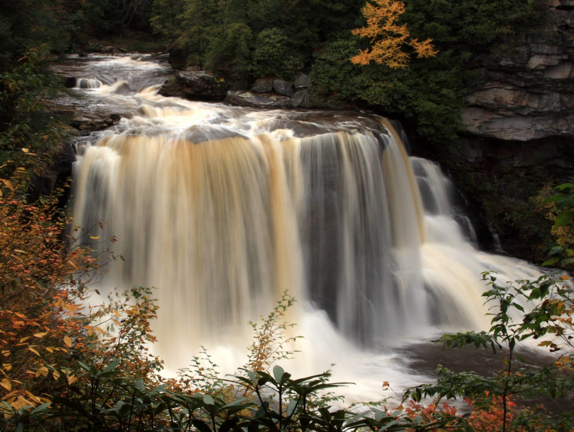time lapse photo of Blackwater Falls