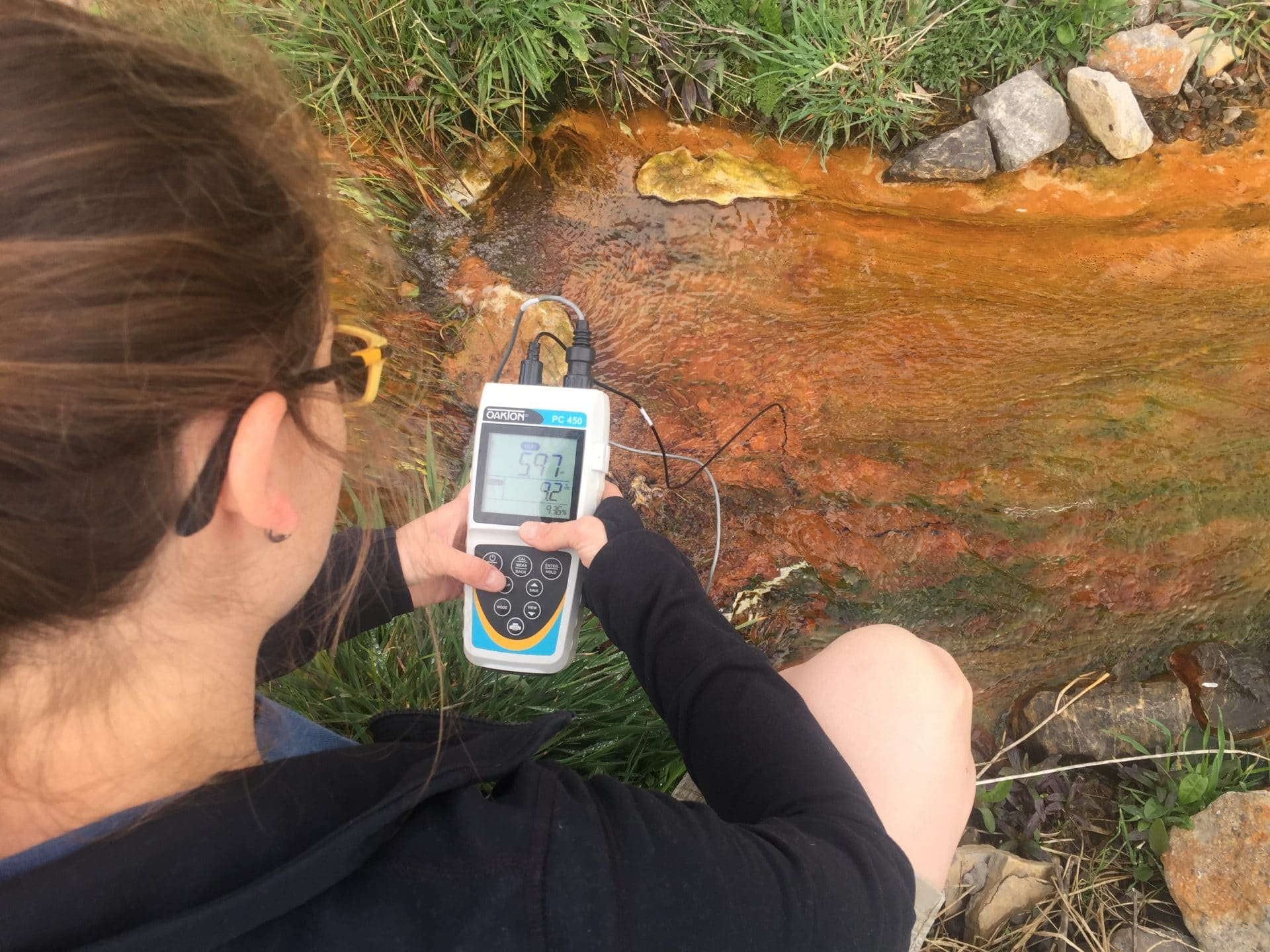 water quality monitoring using a sensor on a small stream impaired by acid mine drainage
