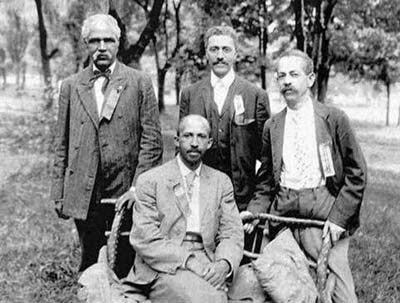 historic photo of JR Clifford and other attendees of the Niagara Conference