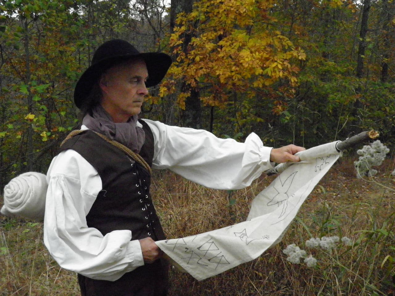 performer Doug Wood as explorer Gabriel Arthur