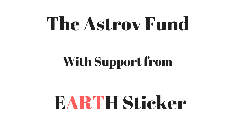 logo for the Astrov Fund and Earth Sticker
