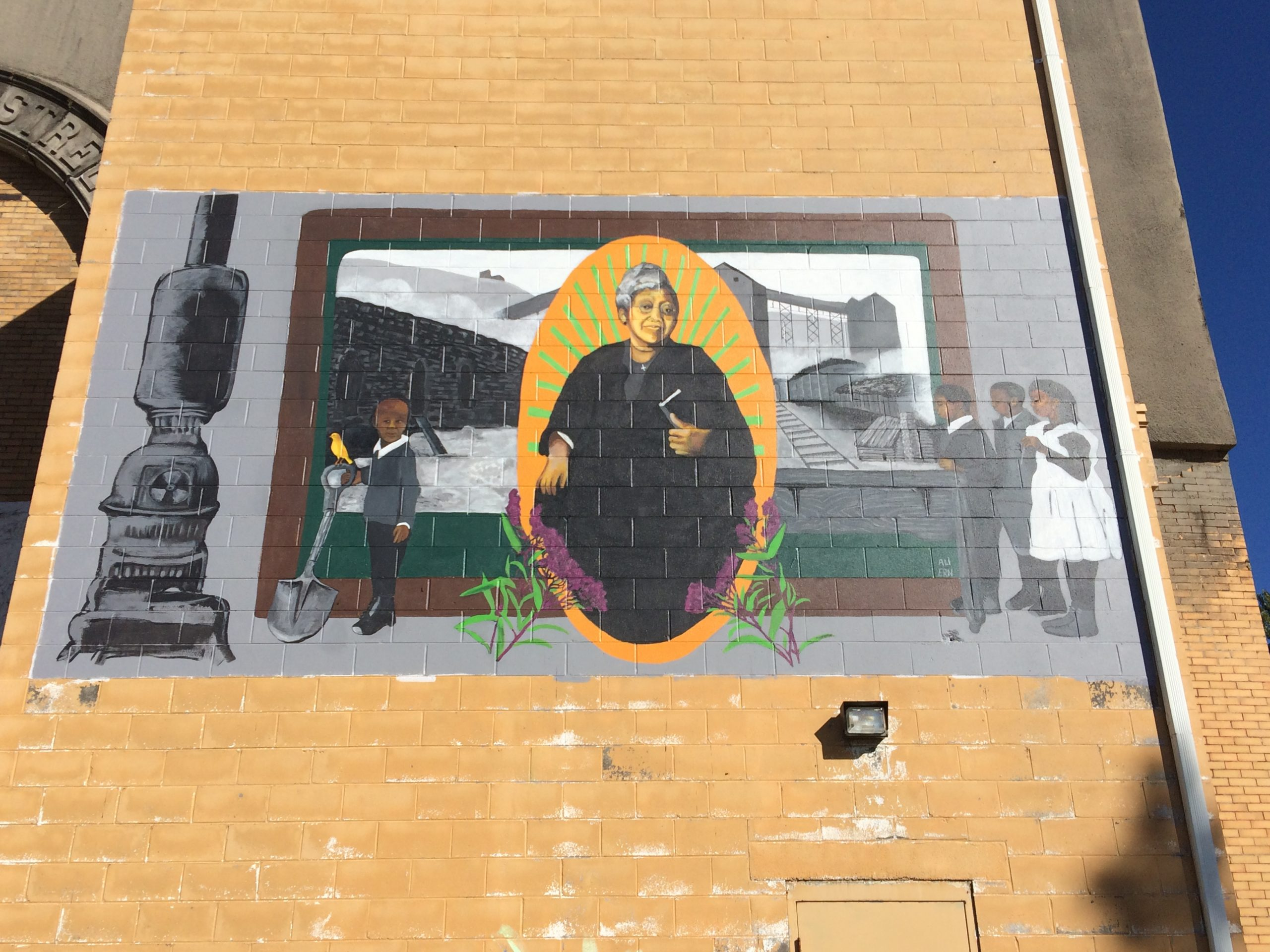 completed mural