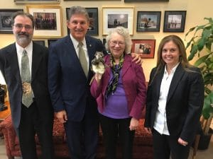 representatives from Friends of Blackwater and the Endangered Species Coalition meet with Senator Manchin