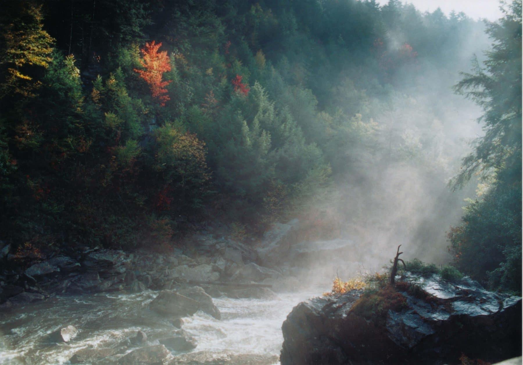 mist below the falls of the Blackwater River