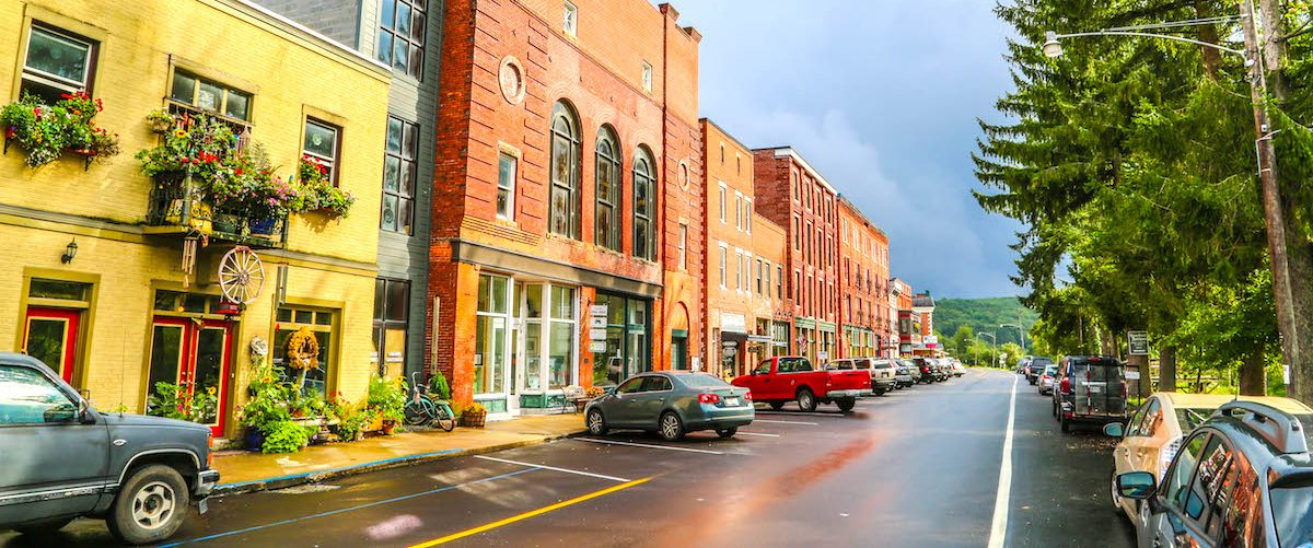 view down Front Street in Thomas, WV