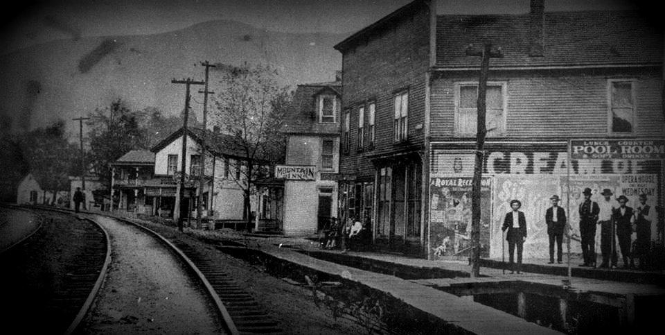 historic photo of street in Hendricks