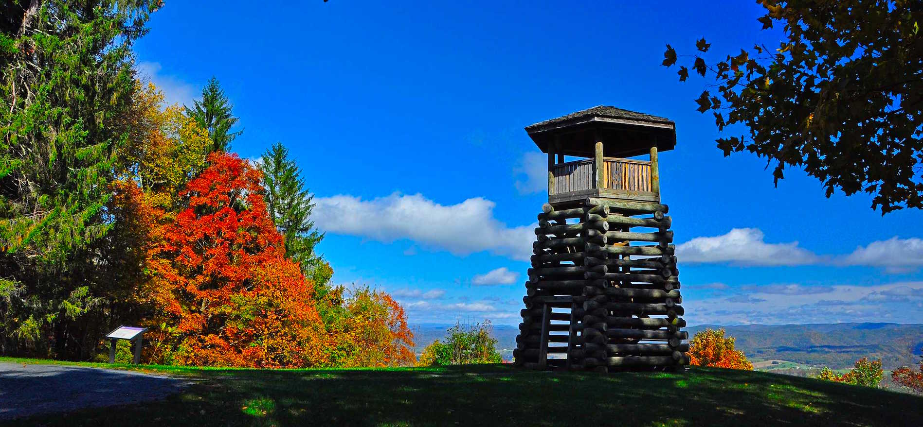 Droop Mountain observation tower