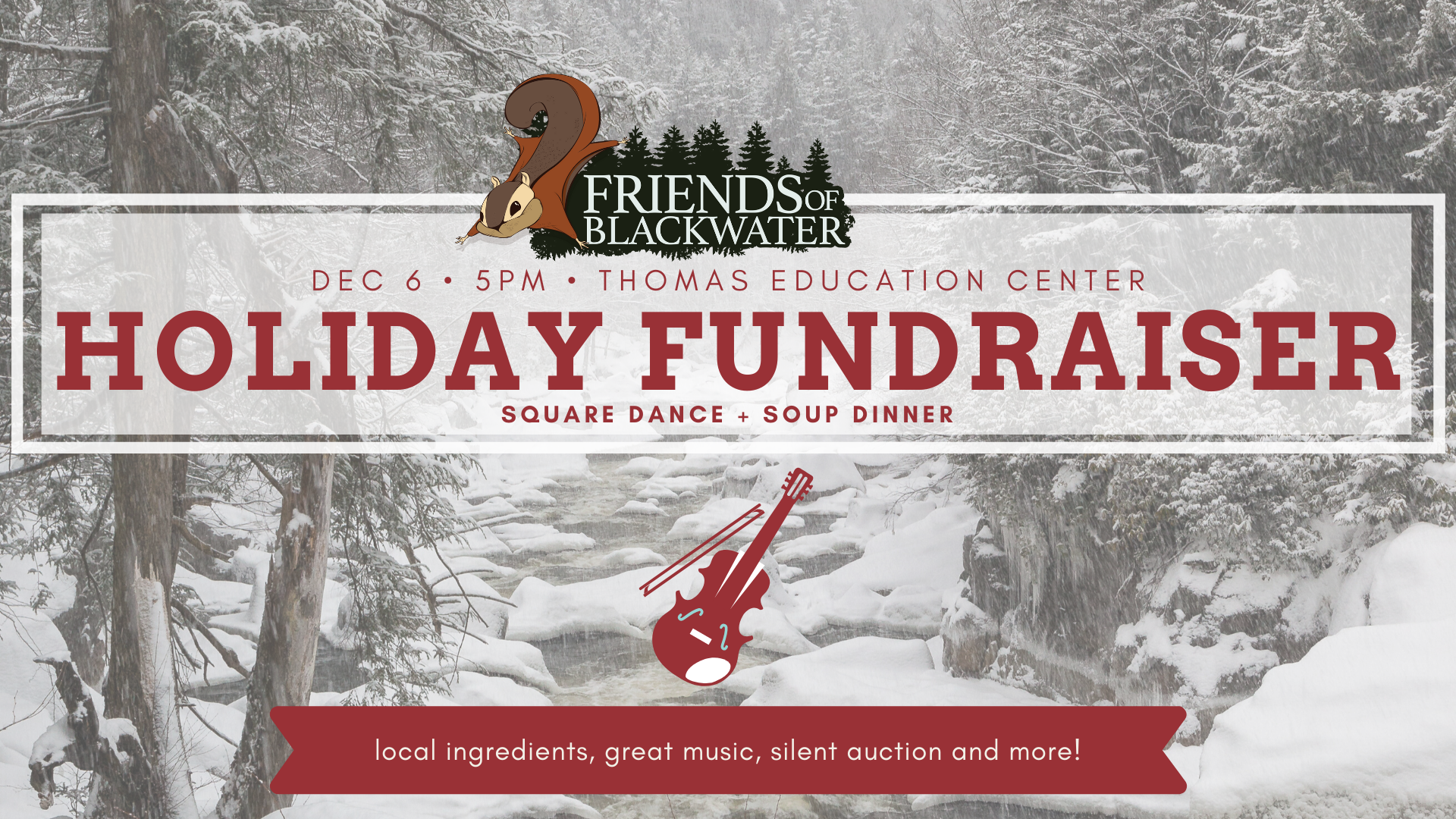 holiday fundraiser enews and fb